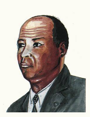 Harlem Drawing - Louis Tmpkins Wright by Emmanuel Baliyanga