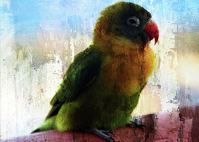 Lovebird Digital Art - Lovbird by Piet Scholten