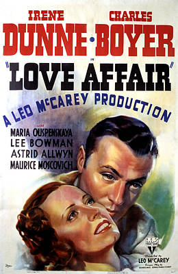 1939 Movies Photograph - Love Affair, Irene Dunne, Charles by Everett