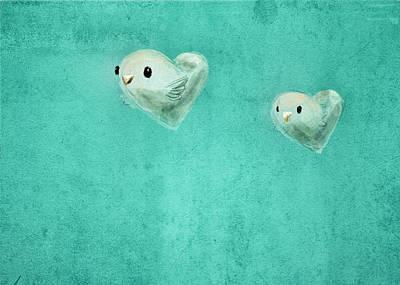Lovebird Digital Art - Love Birds by Davida Fernandez