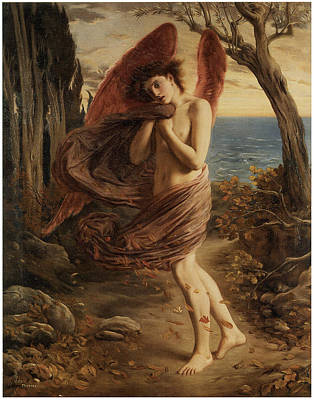 Simeon Painting - Love In Autumn by Simeon Solomon