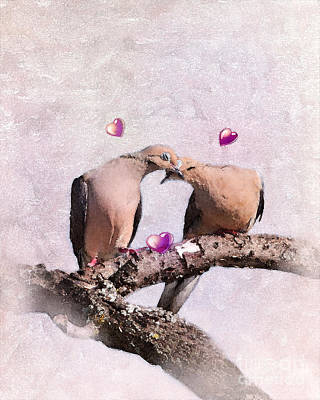 Dove Digital Art - Love In The Afternoon by Betty LaRue
