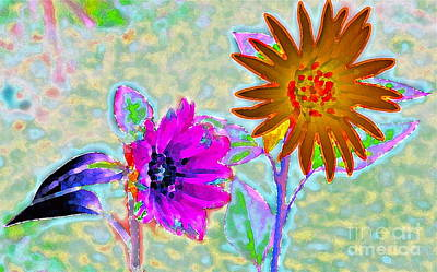 Batik Photograph - Love Is The Flower by Gwyn Newcombe