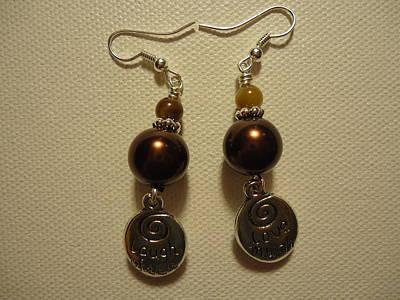 Love Much Laugh Often Earrings Print by Jenna Green