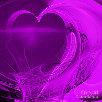 Algorithmic Digital Art - Love . Square . A120423.279 by Wingsdomain Art and Photography