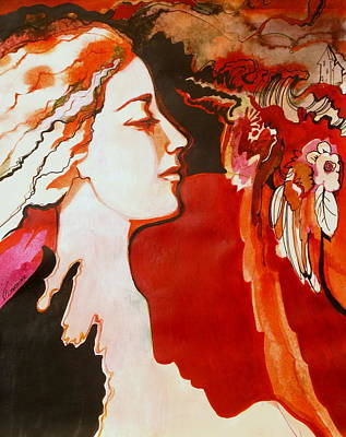 Concept Art Inks Drawing - Love by Valentina Plishchina