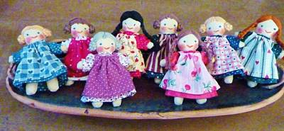 Lovingly Hand Made Dolls Print by Jeanette Oberholtzer