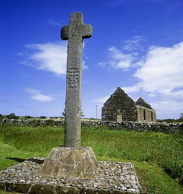 Megalith Photograph - Low Angle View Of A Megalith, Cloncha by The Irish Image Collection
