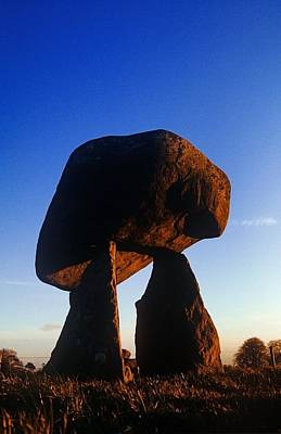 Megalith Photograph - Low Angle View Of Proleek Dolmen by The Irish Image Collection