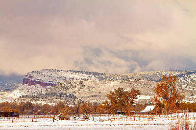 Landscapes Photograph - Low Winter Storm Clouds Colorado Rocky Mountain Foothills 6 by James BO  Insogna