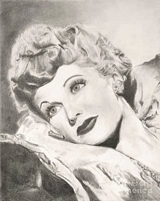 Lucille Drawing - Lucille Ball by Jessica Hallberg