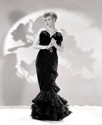 Lucille Ball Models A Lovely Black Print by Everett