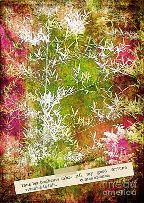 Lucky Bamboo Print by Judi Bagwell