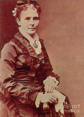 Lucretia Garfield Print by Photo Researchers