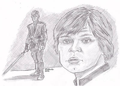 Luke Skywalker Episode Vi Print by Chris  DelVecchio