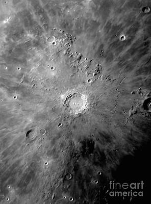 Lunar Crater Copernicus Surrounded Print by Phillip Jones