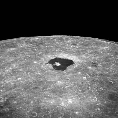 Far Side Photograph - Lunar Far Side Crater Tsiolkovsky by Nasa