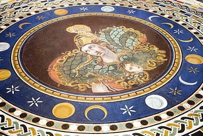 Warrior Goddess Photograph - Lunar Phases, 3rd Century Roman Mosaic by Sheila Terry