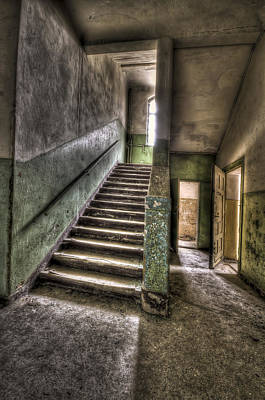 Haunted House Photograph - Lunatic Stairs by Nathan Wright