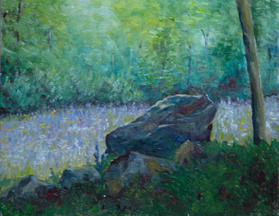 Lupines Galore Original by Aline Lotter