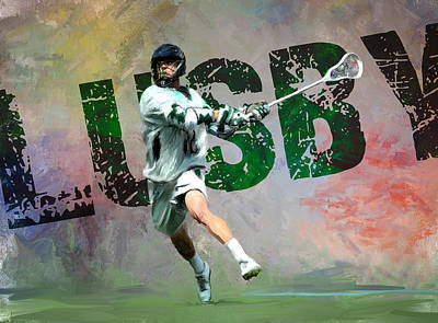 Lusby Lacrosse Print by Scott Melby