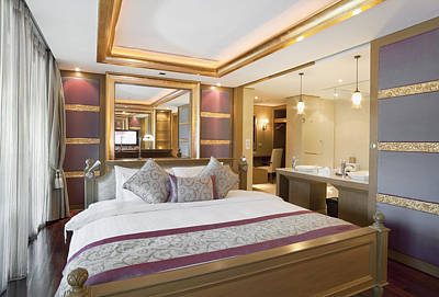 Interior Decorating Photograph - Luxury Bedroom by Setsiri Silapasuwanchai