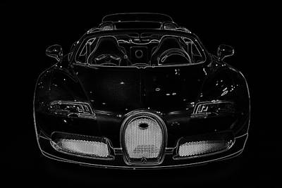 Car Photograph - Luxury Car Illustration by Radoslav Nedelchev