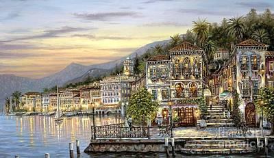 Landscape Painting - Luzern by Vishal Lakhani