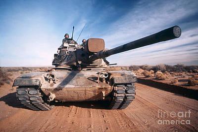 M-60 Battle Tank In Motion Print by Stocktrek Images