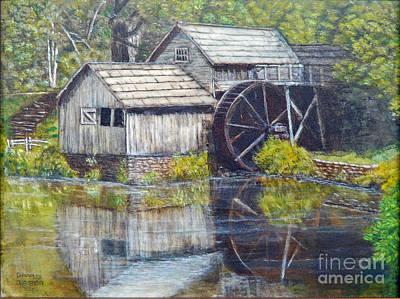 Mabry Painting - Mabry Mill by David Tabor