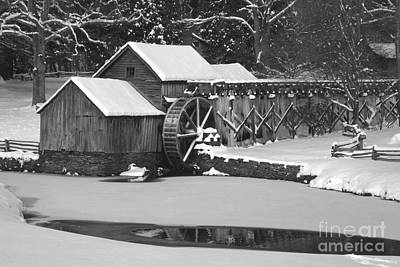 Mabry Mill In Black And White Print by Joe Elliott