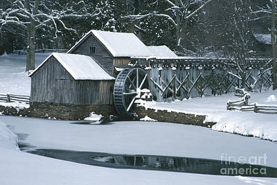 Mabry Mill Winter Print by Joe Elliott