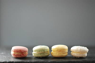 In A Row Photograph - Macarons by Shawna Lemay