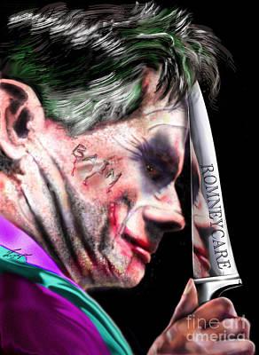 Romney Painting - Mad Men Series 2 Of 6 - Romney The Joker by Reggie Duffie