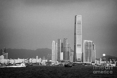 Madeira Hydrofoil Macau Ferry Speeds Towards Kowloon Skyline Hong Kong Hksar China Asia Print by Joe Fox