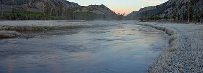 Yellowstone Photograph - Madison River Before Sunrise by Twenty Two North Photography