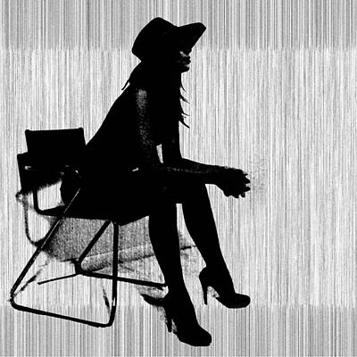 Chairs Digital Art - Magdalen In Black by Naxart Studio