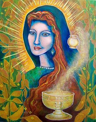 Magdalene's Chalice Print by Shirley Cunningham