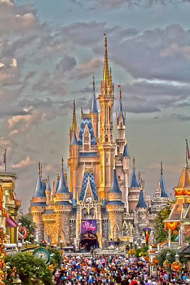 Magic Kingdom Magic Hour Print by Nicholas Evans