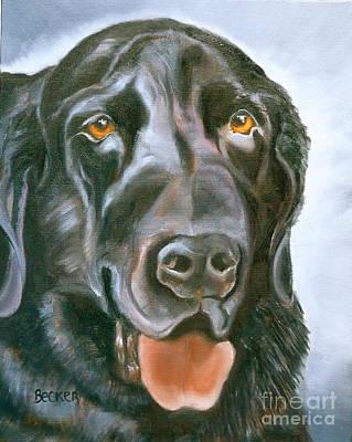 Black Labrador Drawing - Magic Lab by Susan A Becker