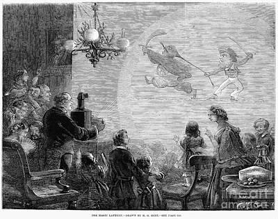 Magic Lantern, 1858 Print by Granger