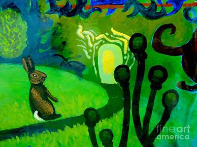 Magic Rabbit Print by Genevieve Esson