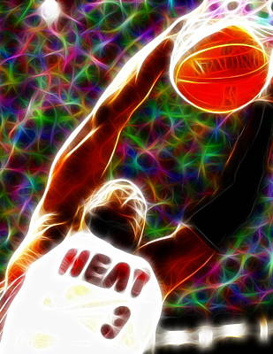 Dwyane Painting - Magical Dwyane Wade by Paul Van Scott