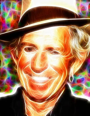 Keith Richards Drawing - Magical Keith Richards by Paul Van Scott