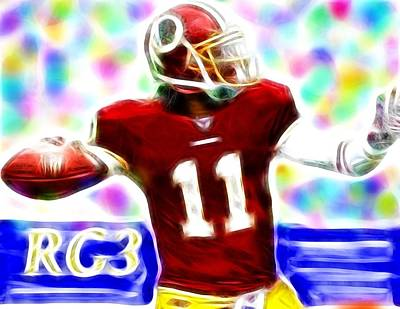 Robert Griffin Drawing - Magical Rg3 by Paul Van Scott