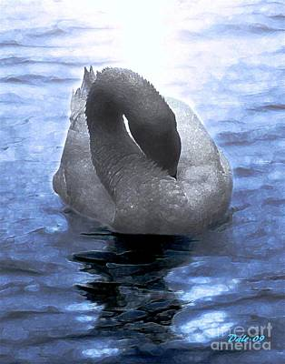Dale Ford Digital Art - Magical Swan by Dale   Ford