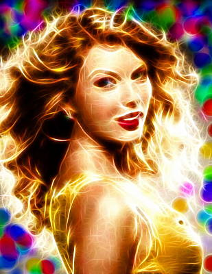 Taylor Swift Drawing - Magical Taylor Swift by Paul Van Scott