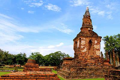 Mahathat Temple In Sukhothai Historical Park  Original by Panyanon Hankhampa