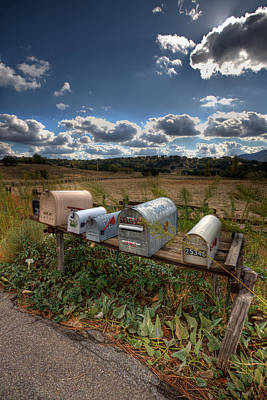 Mailboxes  Print by Peter Tellone