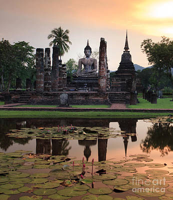 Main Buddha Statue In Sukhothai Historical Park Original by Anek Suwannaphoom